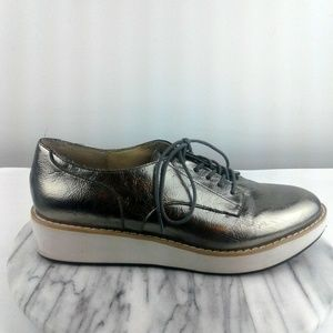 Steve Madden Raant Womens Size 8 Silver Oxfords